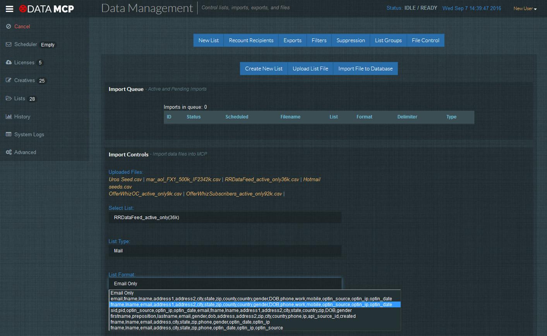 List Management Files